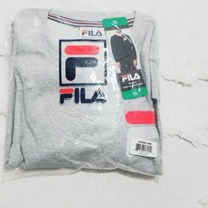 Fila Men/'s French Terry Crew Neck Sweater Medium *New* Grey